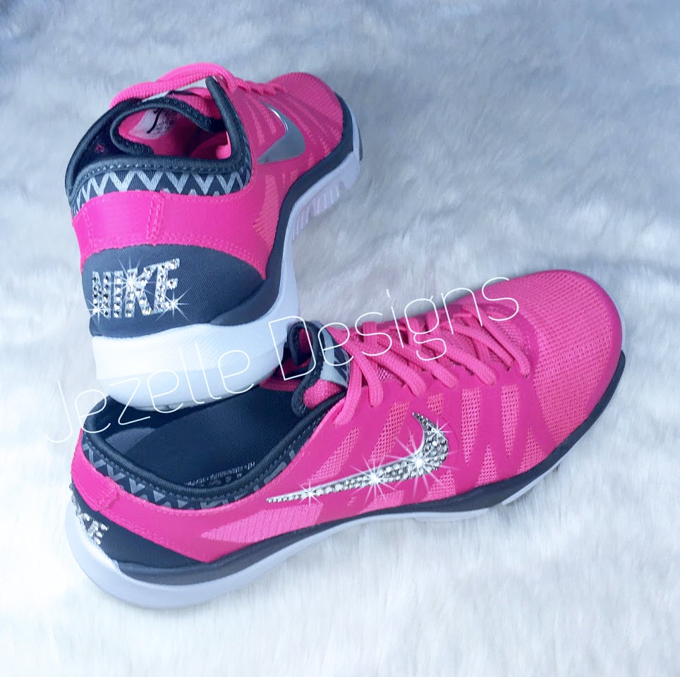 bling nike shoes pink swarovski nike flex by