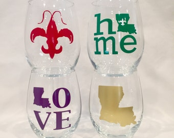 Louisiana  wine glasses