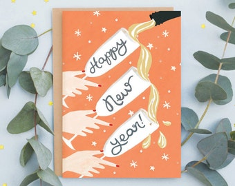 Fizz 'Happy New Year' Greeting Card
