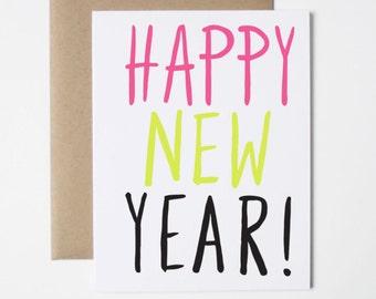 New Year Card- Bright Happy New Year