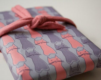 Cats - A4 DIY Wrapping paper for Valentine's
