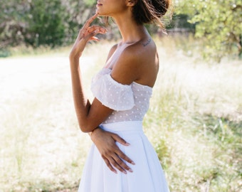 Lisa Top // strapless bridal top