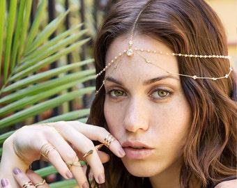 Hand Chain Bracelet, Coachella Bracelet, Egyptian Jewelry , Festival Hand Chain Bracelet, Bohemian Jewelry, Dainty Coachella Jewelry B502