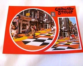 Vintage 70s Carnaby Street, London, Postcard
