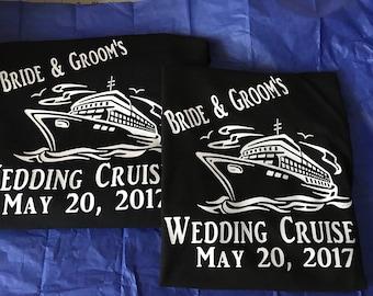 Cruise Wedding Tee Shirt Sets  FREE SHIPPING
