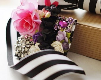 Wedding Gift Bow, Wedding Gift Topper, Floral Gift Bow, Floral Gift Topper