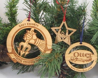 Custom Wood Ornaments