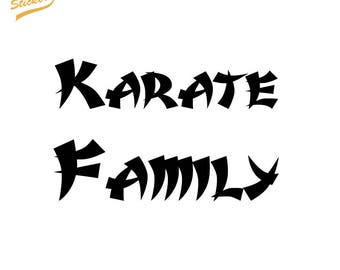 Karate Family Text - Vinyl Car Decal Sticker