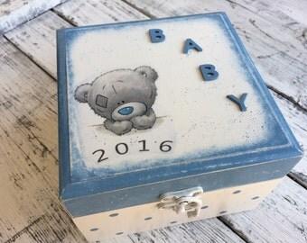 Baby memory box...Keepsake box...Baby shower box...Personalized baby gift box