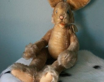 Steiff bunny Lulac! Easter bunny rabbit vintage plush collectible toy 1950-1960