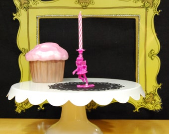 Pink Dancing Fairy Birthday Candle Holder