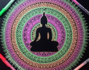 Buddha Mandala home decor art print