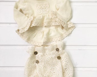 cod118 Newborn photo props, baby photography, Sitter size girl outfit, lace cotton