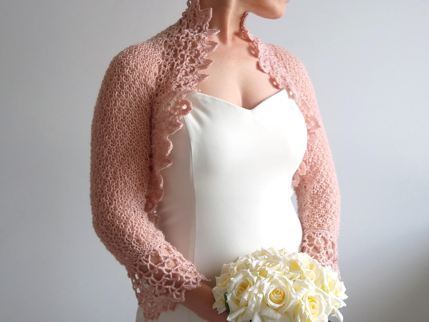Crochet bolero shrug rose bolero bridal jacket wedding