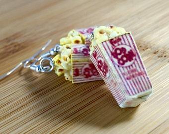 Polymer clay popcorn charm jewelry