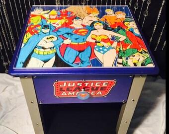 Justice league    - superman - super hero decor - batman - justice league decor   - justice league decor -  batman decor  - kids furniture -