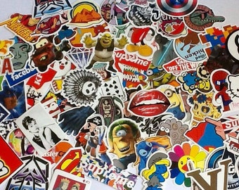 20/50/100 Vinyl Decal Stickers, Waterproof Stickers, Laptop Stickers, Skateboard Stickers, Plastic Stickers, Stickers Lot, Large Stickers, C