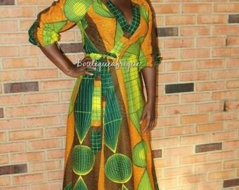 African Print Dress- Women Dresses Unique- Wrap Dress- Print Wrap Dress- Infinity Dress- African Wrap Dress- African Maxi Dress - African