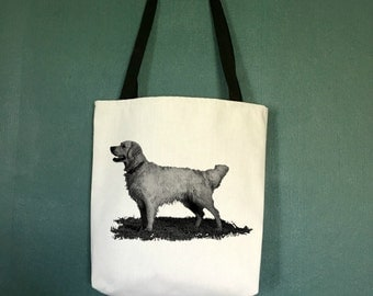 Golden Retriever Tote Bag , Large Totes with Retriever, Unique Gifts for Dog Lovers