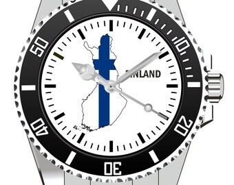 Finland country outline clock - watch 1103