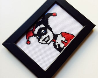 Harley Quinn | Harley | Suicide Squad | Retro | Old School | Comic | Gift | Framed | Cross Stitch | Completed | Home