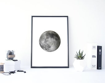 Moon Print, Moon Photo,Instant Download, Moon Photography,Planet Wall Art, Moon Printable, Space Wall Art, Moon Art, Moon Poster, Wall Decor