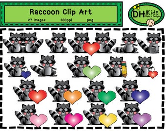 Raccoon Clip Art - Digital Download
