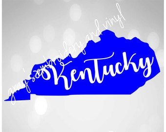 ky state with kentucky svg dxf