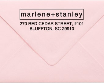 Address Stamp, Custom Personalized Address Stamp, Self Inking Return Address Stamp, Personalized Address Stamp, Custom Wedding Stamp 22MP