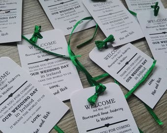 50 Wedding Tags  Welcome & Thanks  Gift tags