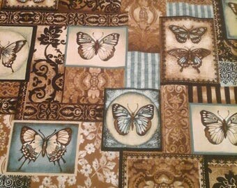 Robert Kaufman Butterfly  Fabric 1 Yard Cotton