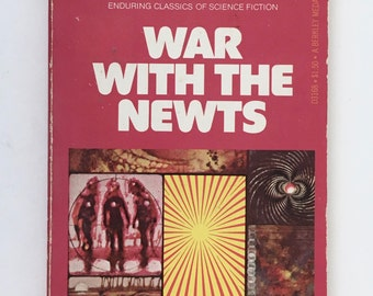 War with the Newts, Science Fiction Book, Karl Capek, Berkley Medallion, Vintage Paperback Edition, 1976, Czech Sci Fi Book