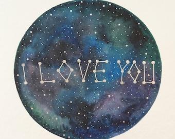 "original painting ""I love you"""