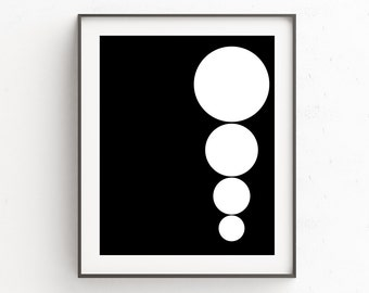 Scandinavian Print | Black and White Art | Mid Century Modern Art