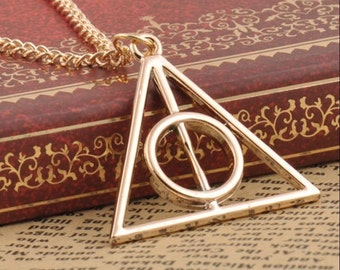 Harry Potter Deathly Hallows Simple Dainty Necklace