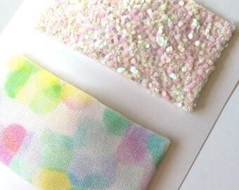 Pastel Confetti Snap Clip//Glitter Snap Clip Set