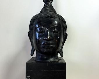"Extra Large 36"" Buddha Head Sculpture"