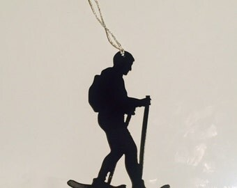 Snowshoeing Ornament Male ( also available in female)