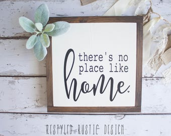 There's No Place Like Home, Farmhouse Decor, Farmhouse Sign, Home, Framed Wood Sign, So good to be Home, Gallery Wall Signs