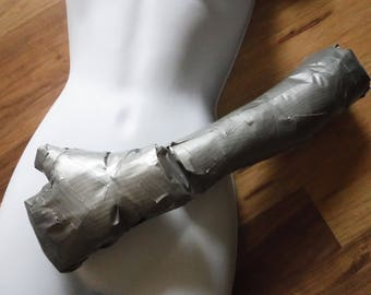 Upcycled Plastic Packaging Filled Duct Tape Forms - Add Realistic Appendages to Dress Forms, Pattern and Construct Arm and Leg Armor
