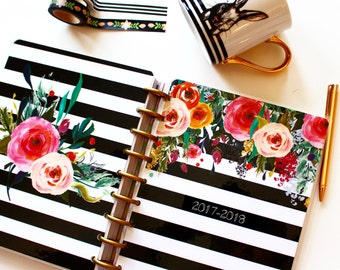 """Happy Planner Cover Set: """"2017 Floral"""", 10 Mil Laminated"""
