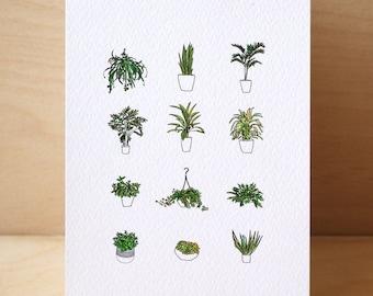 12# House Plants Card