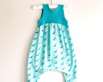 Girl Romper - Blue Bird - Size 6-9 Months