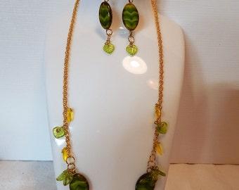 Jewelry Set, Fashion Jewelry, Czech Glass Necklace
