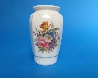 "Small Vintage Aynsley Bud Vase ""Howard Sprays""  Pattern - Made In England"