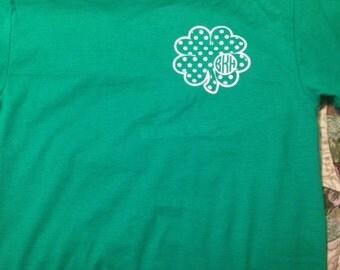 St. Patrick's Day Monogrammed Shirt for Kids