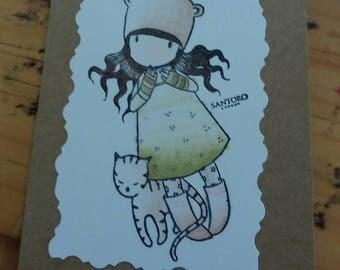 Santoro mini card Purrrfect Love
