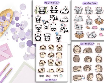 Animal samplers stickers! S159