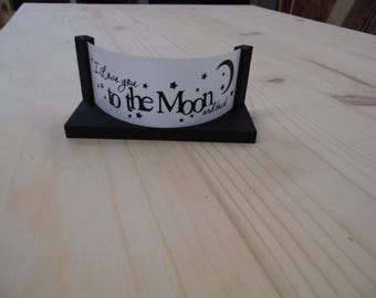 I love you to the moon and back candle holder.