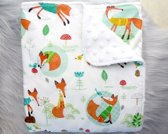Baby Blanket, Baby Boy Gift, Baby Boy, Baby Shower Gift, Nursery Decor - Foxes